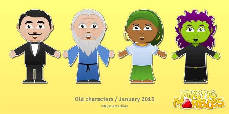 Old magician characters from Mystic Marbles.  Such a happy bunch :-) #MysticMarbles #iPhone #iPad #Android #Game