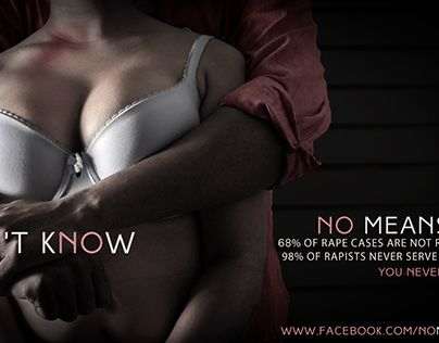 """Check out new work on my @Behance portfolio: """"No Means No Campaign"""" http://be.net/gallery/34140101/No-Means-No-Campaign"""