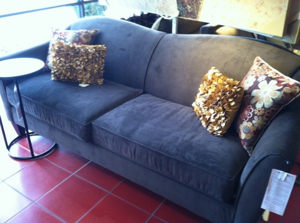 Abbie Sofa In Chocolate With Orted Pillows From Pier 1 I Have