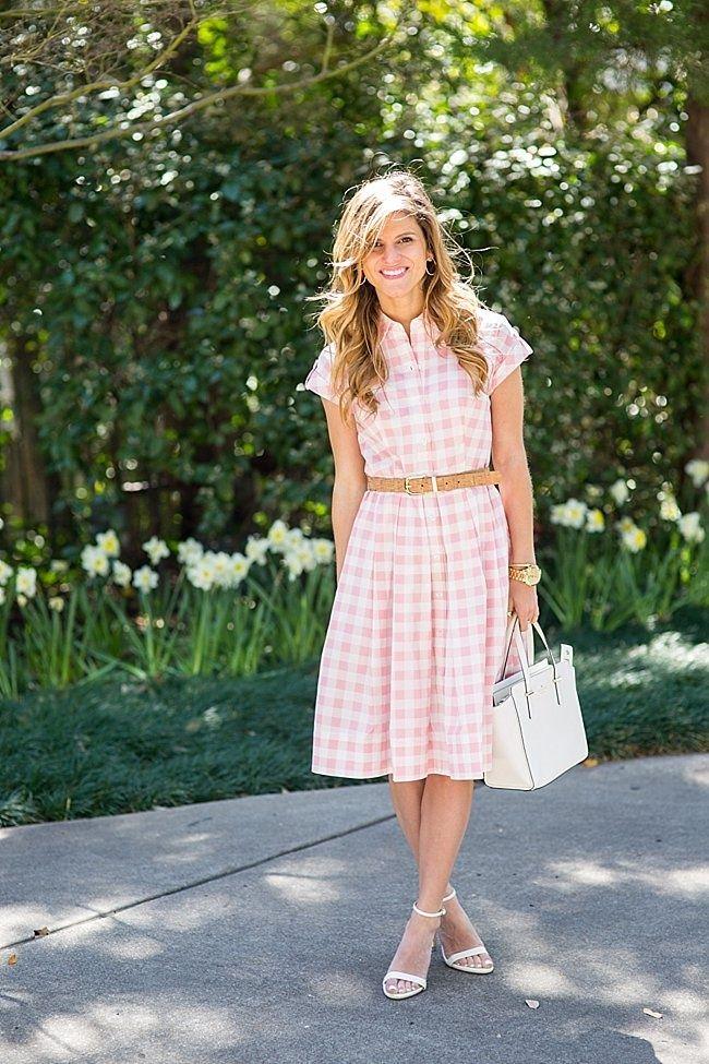 2b60e29aee brighton the day pink and white gingham midi dress 8