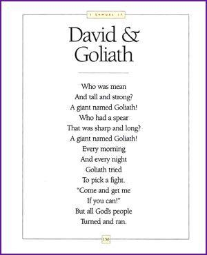 David and Goliath (Rhyming Story) - Kids Korner - BibleWise