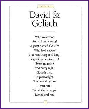 David And Goliath Rhyming Story Kids Korner BibleWise