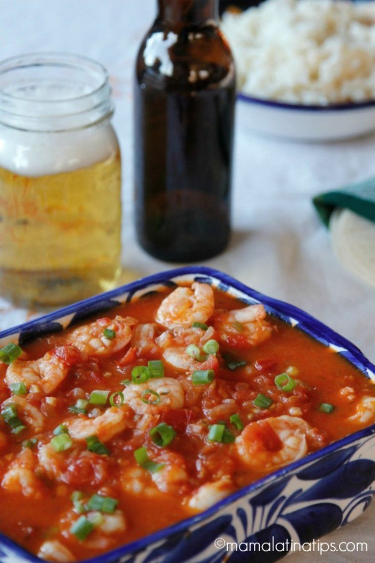 Shrimp in beer sauce, super easy to make. Great in tacos or served with rice and beans. Seafood Recipes, Gourmet Recipes, Mexican Food Recipes, Healthy Recipes, Ethnic Recipes, New Zealand Food And Drink, Middle East Food, Comida Latina, Party Food And Drinks