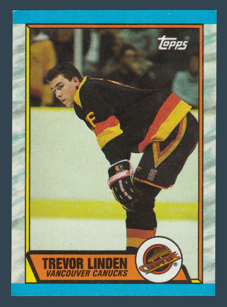 Trevor Linden RC # 89 - 1989-90 Topps Hockey NHL Rookie