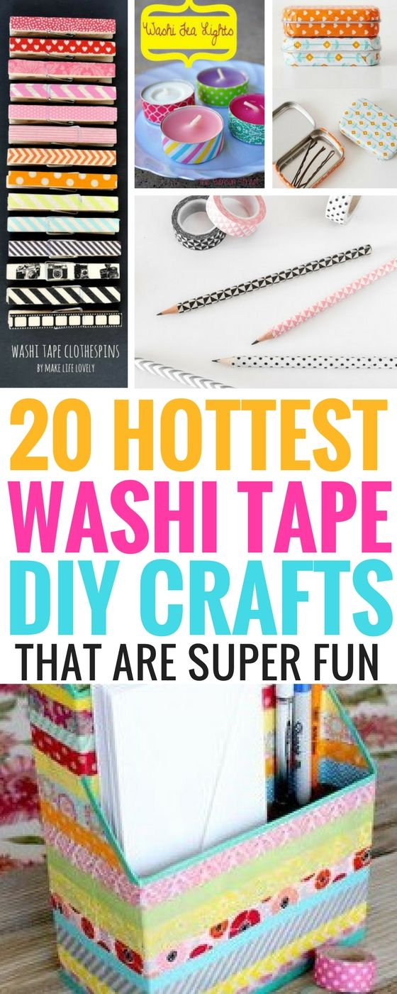 20 Washi Tape Craft Ideas that are so amazing and fun. I never knew that you can make ordinary things look EVEN BETTER with these diy washi tape projects. Love them to bits!