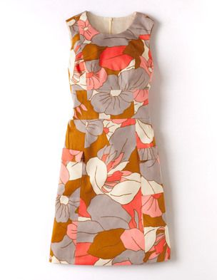 I've spotted this @BodenClothing Retro Pocket Dress Multi Brown Retro Flower