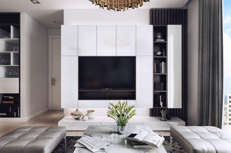 Luxurious Apartment with Dark Interiors and Stunning Lighting/ SEE MORE: http://modernhomedecor.eu/modern-furniture/luxurious-apartment-dark-interiors-stunning-lighting/