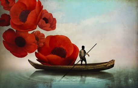 'Red Flowers' by Christian  Schloe on artflakes.com as poster or art print $22.17