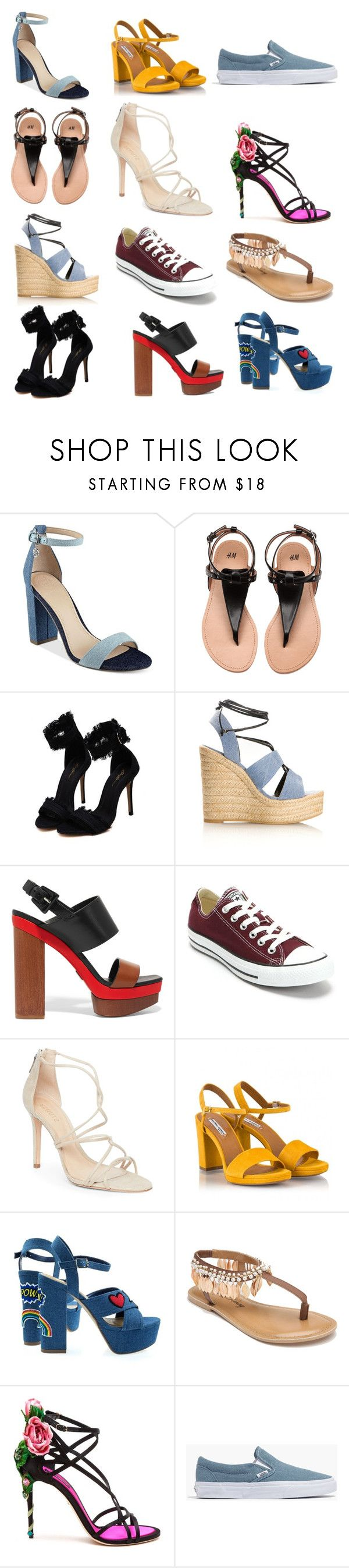 """обувь2"" by tamaraatma on Polyvore featuring GUESS, Yves Saint Laurent, Michael Kors, Converse, Schutz, Fratelli Karida, Penny Loves Kenny, Dolce&Gabbana and Madewell"