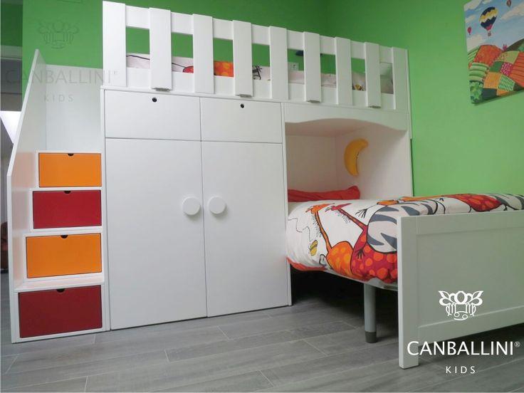 Literas con camas en l para habitaciones infantiles y for Camas en l juveniles