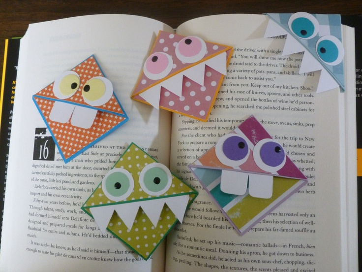 monster bookmarks, by me :), how to is under gift ideas board