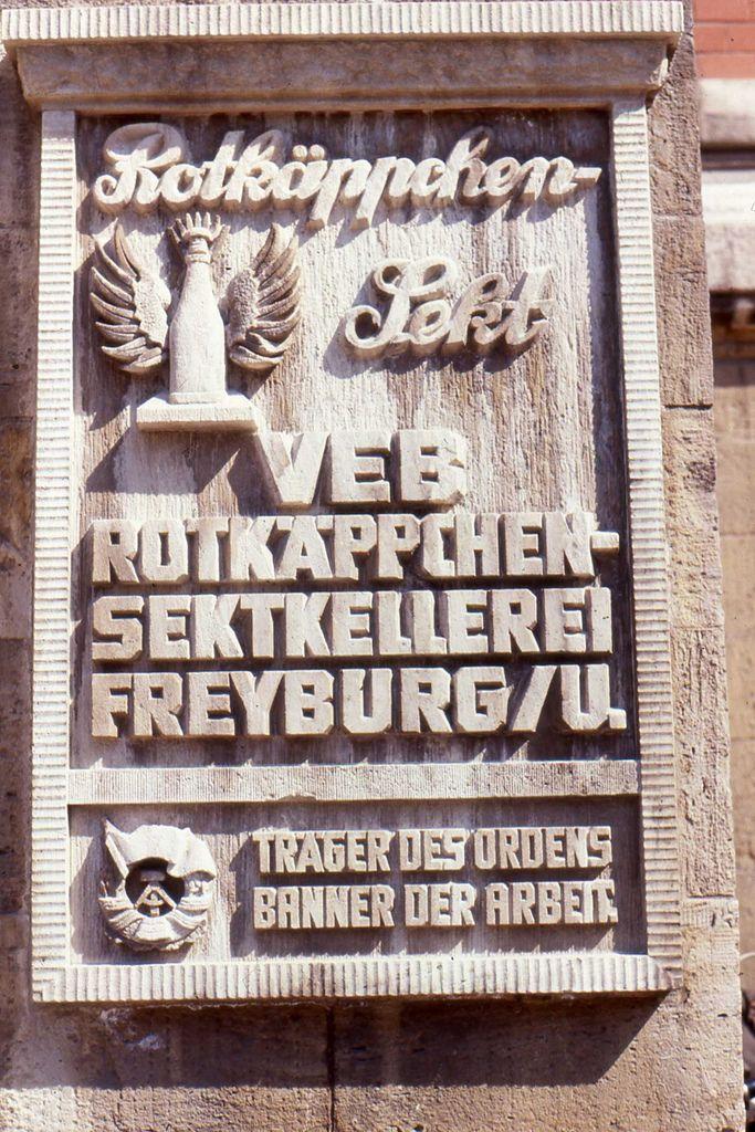 Freyburg DDR  Rotkäppchen Sekt - May 1990 | by sludgegulper