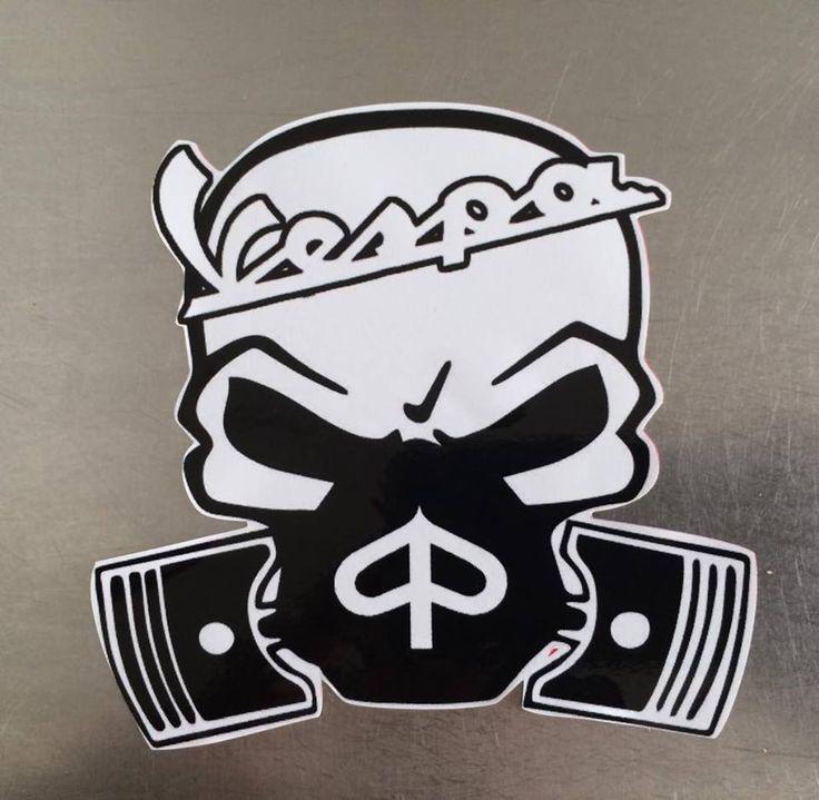 Vespa Custom Skull Decal/ Sticker   eBay