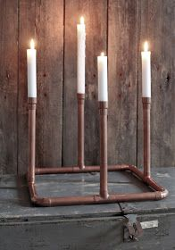 Inspirationsquelle: DIY: Industrial Style; advent wreath copper