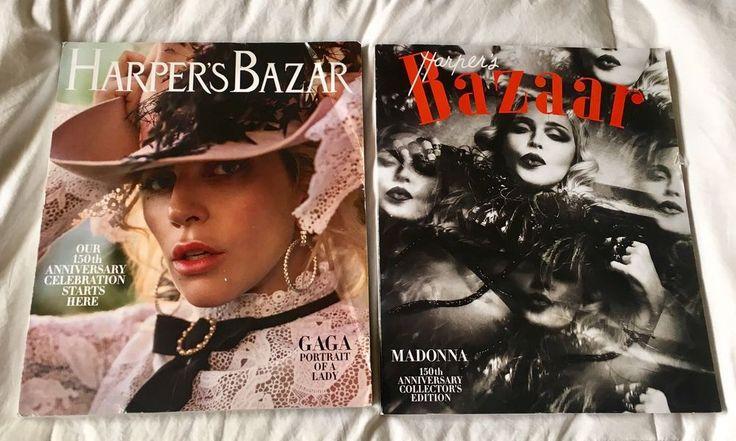 Harper's Bazar Magazines Lady GAGA and MADONNA 150th ANNIVERSARY DEC-JAN-FEB NEW