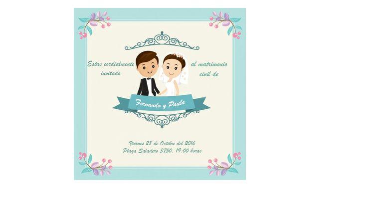 Invitación matrimonio civil