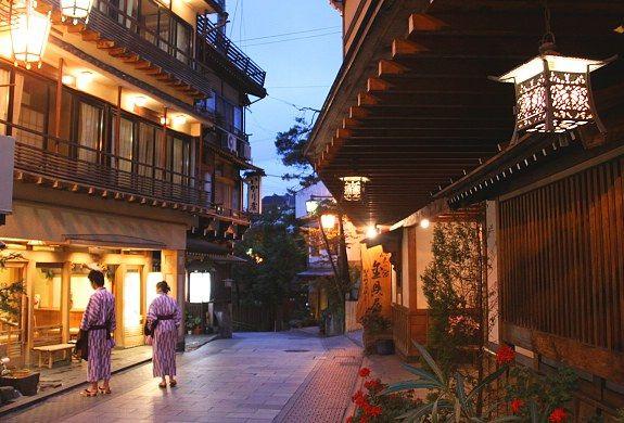 Walking around in a yukata (bath robe) in Shibu Onsen, a historic hot spring town in Japan.