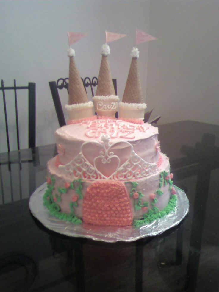 Simple Castle Birthday Cakes For Girls Simple Castle