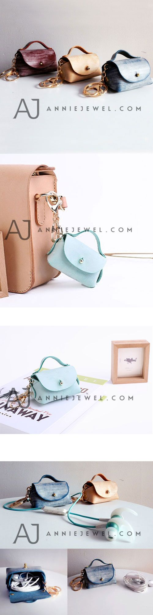 HANDMADE LEATHER MINI BAG CUTE COIN HOLDER KEY WALLET PURSE UNIQUE GIFT FOR GIRLS WOMEN