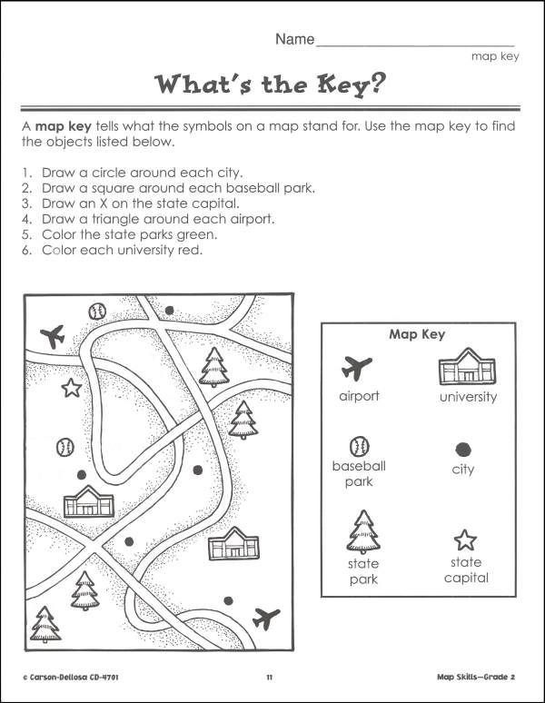 Map Worksheets For First Grade Pin Map Skills 2 Bs Amp B Additional Inside Page On Map Skills Worksheets Map Skills Map Worksheets Map worksheets 2nd grade
