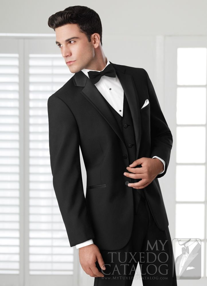 23 best Black Tuxedos and Suits images on Pinterest | Wedding ...