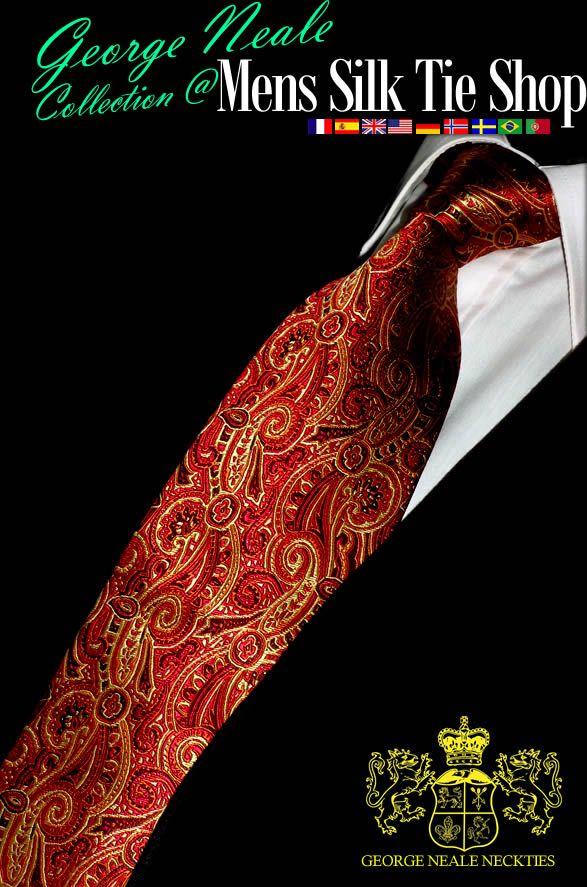 cravates rouge de luxe