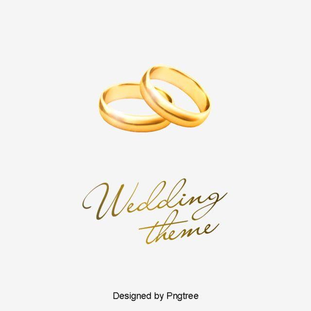 خاتم الزواج ناقلات المواد حفل زواج المتجه ذهبي Png وملف Psd للتحميل مجانا Wedding Ring Vector Wedding Theme Design Ring Vector