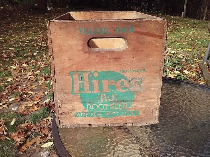 Hires Root Beer Wooden Case Crate Variety Club Uptown Soda Pop Bottle 1950s Ohio #Hires