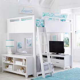 Hampton Loft Set, Full, Brushed Fog – Furniture – Loft + Bunk Beds