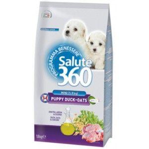 SALUTE 360 PUPPY - Hrana pentru tineret canin cu carne de rata si ovaz