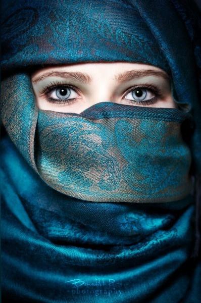 bleu hijabi