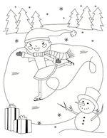 Ice Skating Coloring Sheet | ParentSavvy
