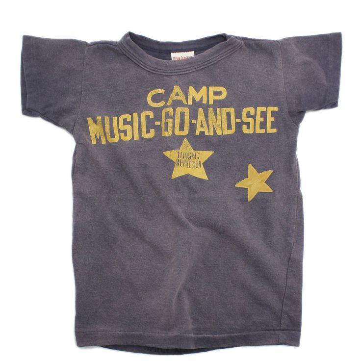DENIM DUNGAREE(デニム&ダンガリー):ビンテージテンジク STAR CAMP TEE 12PLパープル の通販【ブランド子供服のミリバール】