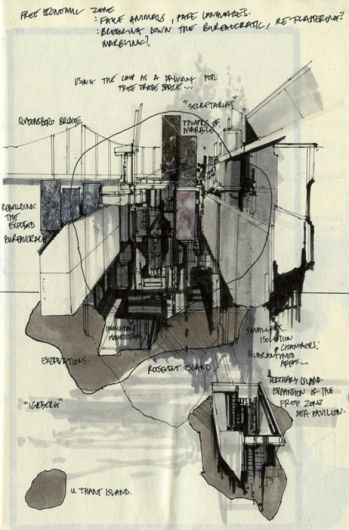 Drawing ARCHITECTURE, ryanpanos: UN Freeport Enclaves   Alephograph...
