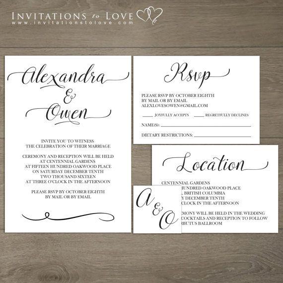 Printable Wedding Invitation  Custom Digital by InvitationsToLove