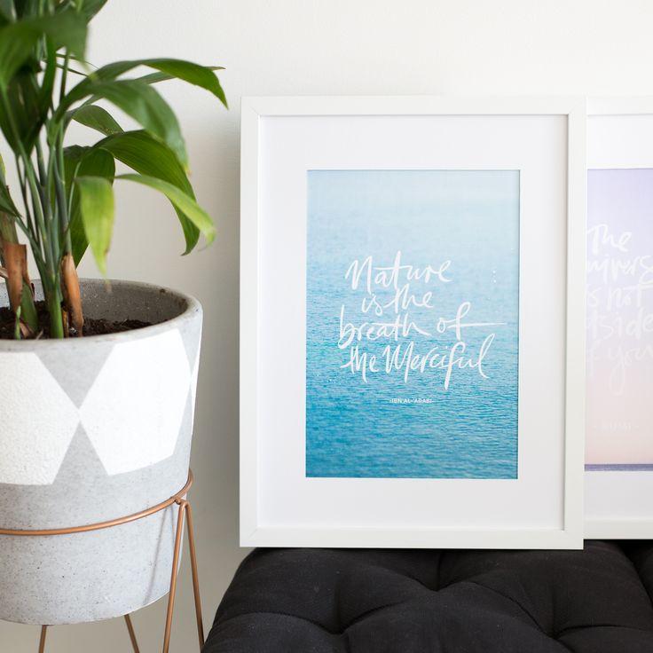 Nature. Ocean. Sea love. Ibn Arabi Sufi, Sufism brush lettered quotes at lifeofmyheart.com.au #islamicart Islamic Art and Calligraphy