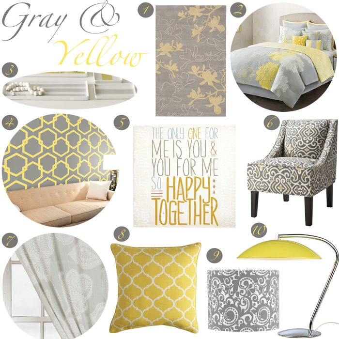 awesome yellow and gray bedroom decorating ideas photos - interior