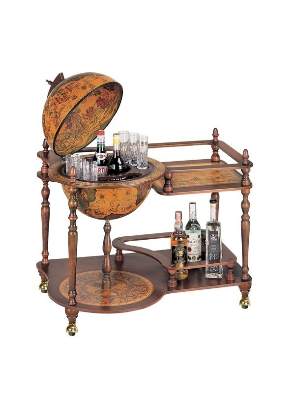Globe Drinks Cabinet Serving Tray Perseo