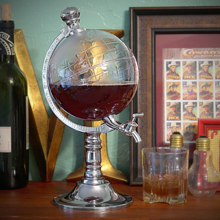 World Globe Liquor Dispenser Details:  Add a touch of world charm and global grace to your next happy hour with this global liquor dispenser.