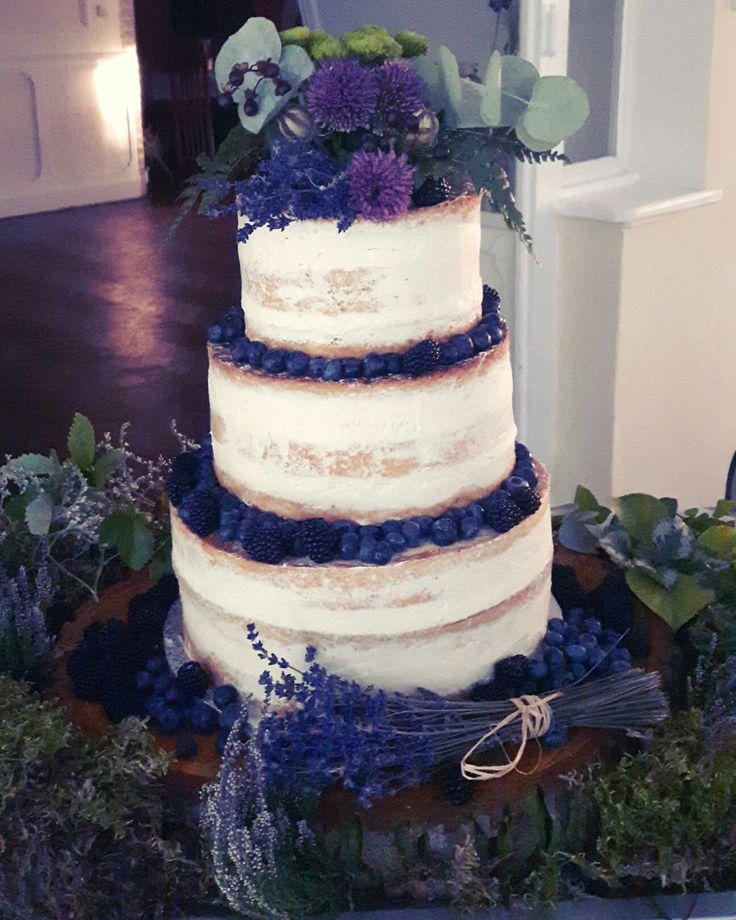 Cake wedding forest