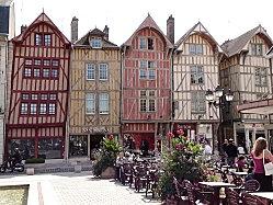 La place de la mairie in Troyes, France