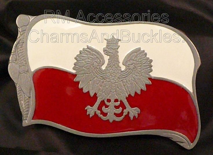 FLAG OF POLAND BELT BUCKLE