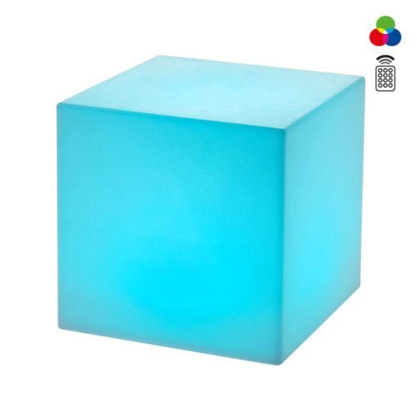 Corpuri de iluminat exterior CORP EXTERIOR CUB LED RGB 38CM DADOS 9993 REDO.9993