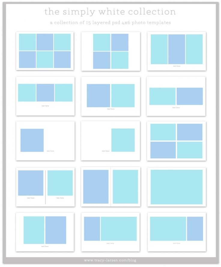 the simply white collection 4x6 photo collage templates for project life project life. Black Bedroom Furniture Sets. Home Design Ideas