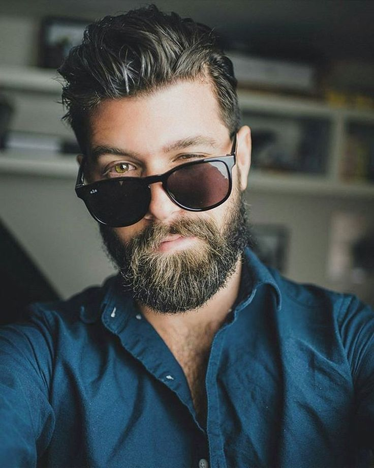 Best men short beard and mustache style 45