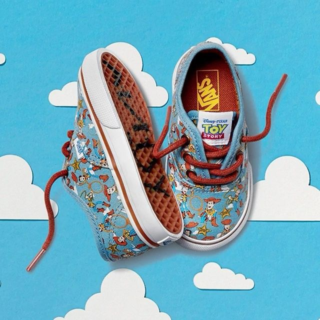 Out now! #Shop the @vans Toy Story Kids straight from our bio. Available in infant sizes 4-9. #vans #kids #toystory #VansxDisneyPixar