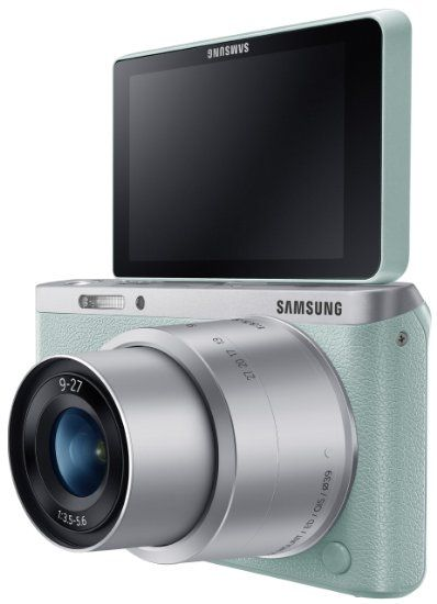 """Amazon.com: Samsung NX Mini 20.5MP CMOS Smart WiFi & NFC Compact Interchangeable Lens Digital Camera with 9-27mm Lens and 3"""" Flip Up LCD Tou..."""