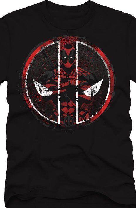 Deadpool Merc with an Emblem T-Shirt - Marvel Comics T-Shirt