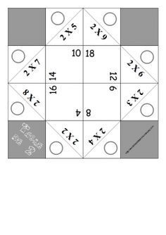 Cocottes pour apprendre les tables de multiplication en s'amusant