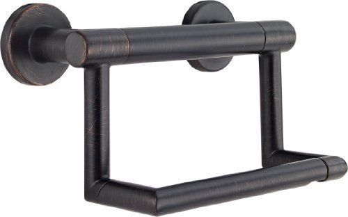 Delta Faucet 41550-RB Contemporary Tissue Holder/Assist Bar, Venetian Bronze DELTA FAUCET